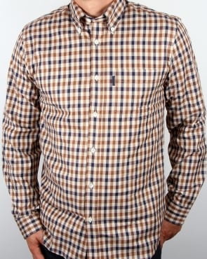 Aquascutum Emsworth Club Check Shirt Vicuna