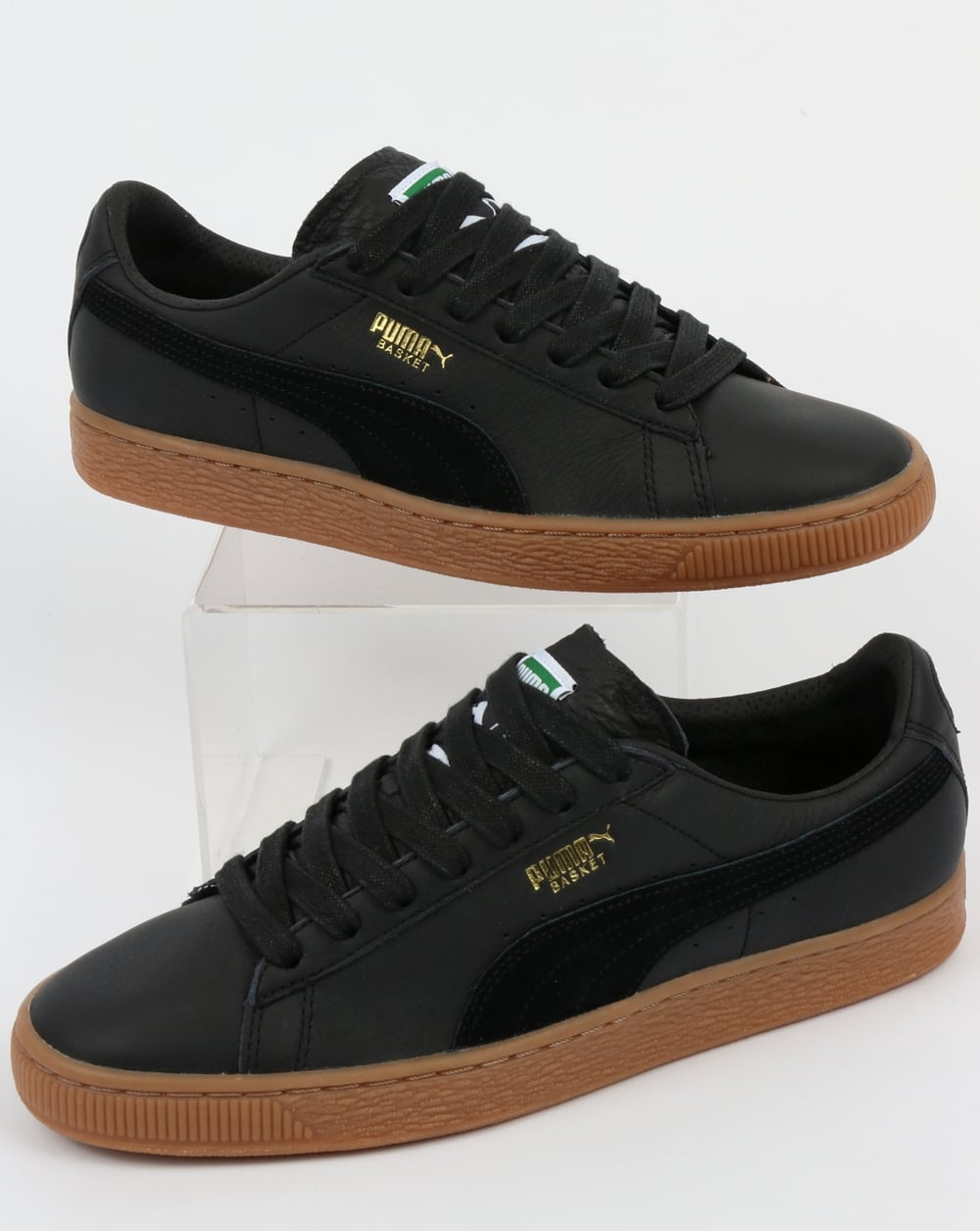 purchase cheap cc473 4883b Puma Basket Classic Gum Deluxe Trainers Black