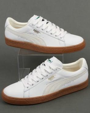 Puma Basket Classic Gum Deluxe Trainers White