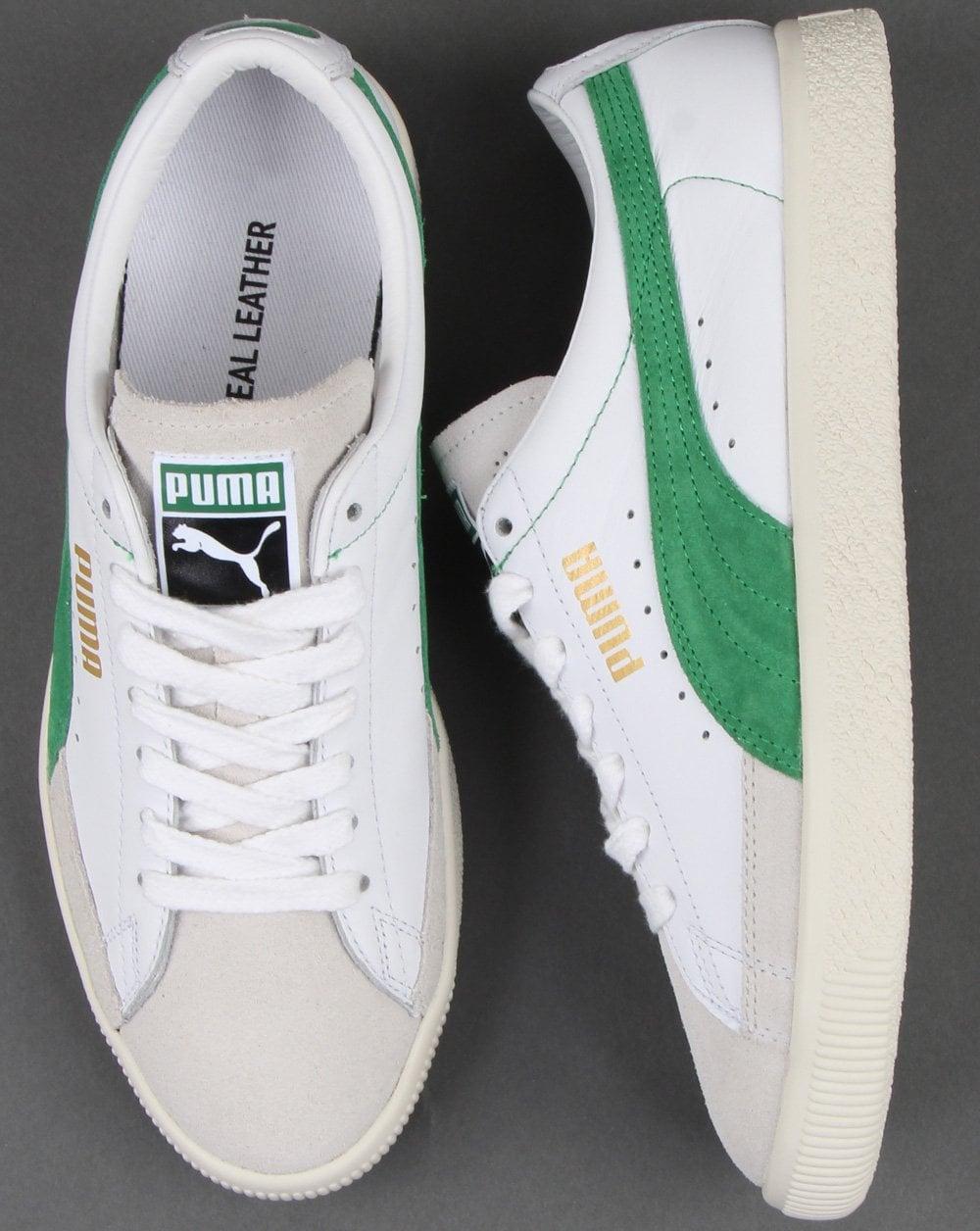 d1c81c8b49226 Puma Basket Trainer White/amazon Green