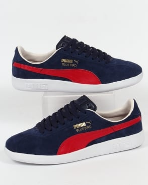 Puma Bluebird Trainers Navy/Red