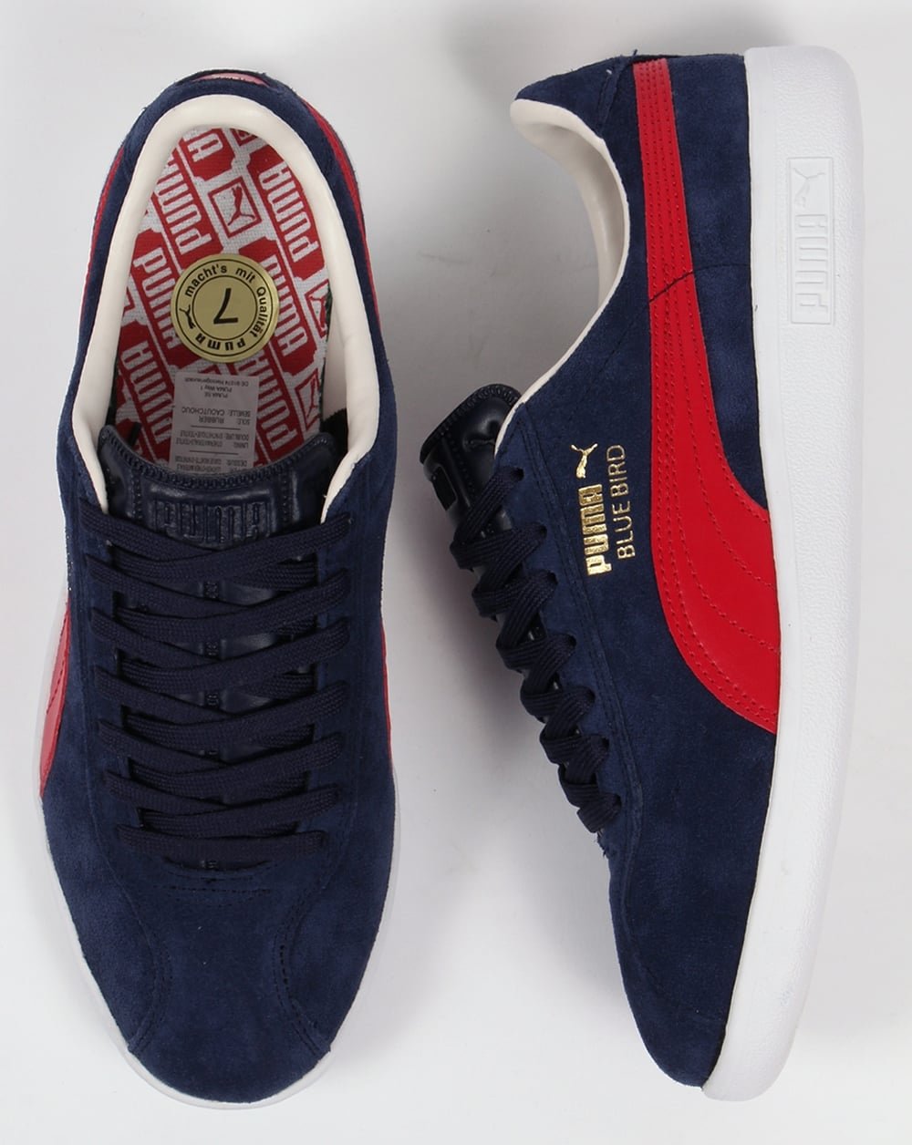 Puma Bluebird Trainers Navy/Red