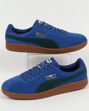 Puma Bluebird Trainers Royal Blue/Pine Green