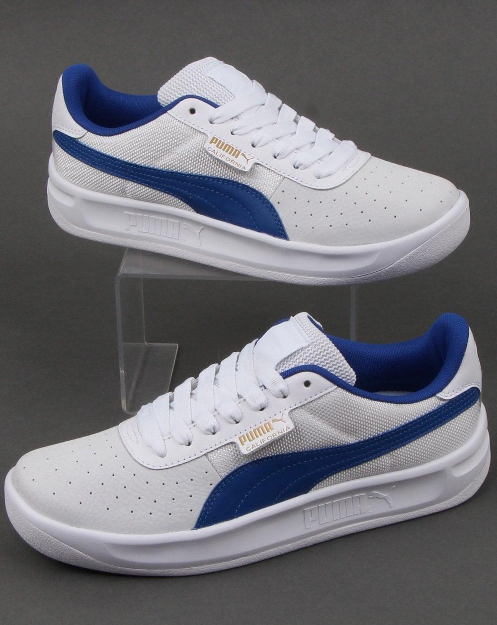 eebe25e389c Puma Puma California Trainer White Blue