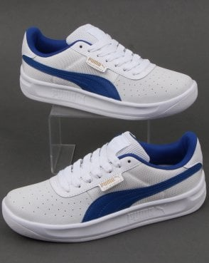 2bab085203a Puma California Trainer White Blue