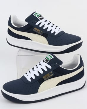 Puma California VTG Trainers Navy/White
