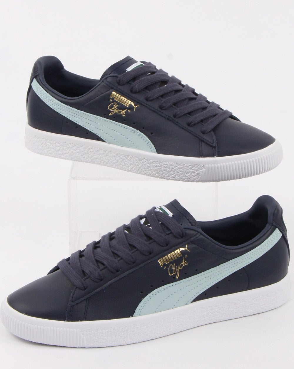 the best attitude a352a 0ac6f Puma Clyde Core Trainers Navy/blue