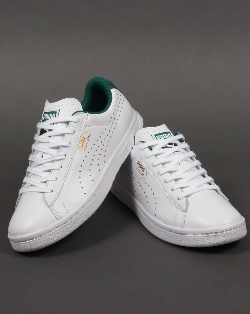 huge selection of 2e194 93555 Puma Court Star Crafted Trainers White/Green