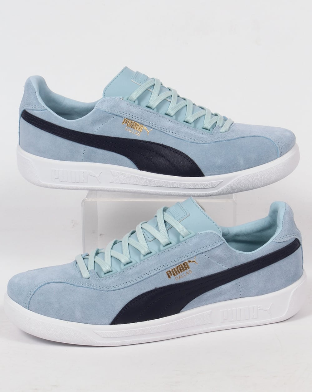 b04e3d15de9 Puma Puma Dallas Trainers Sky Blue Navy
