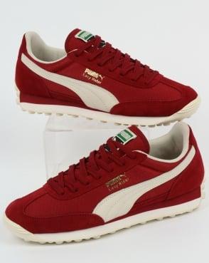 Puma Easy Rider Classic Trainers Red Dahlia/Whisper White