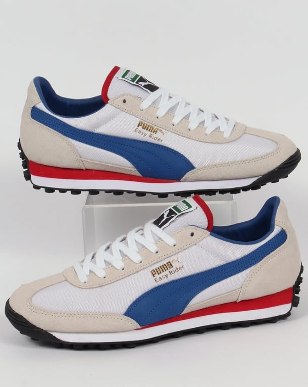 186b0606030 Puma Easy Rider Trainers White True Blue