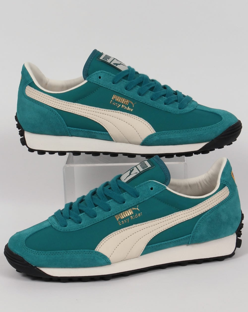 Puma Easy Rider VTG Trainers Harbour Blue/White