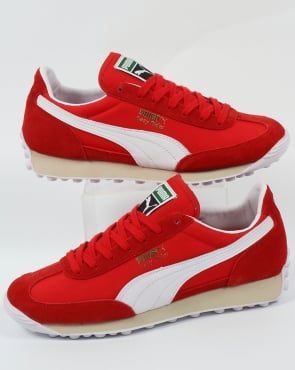 Puma Easy Rider VTG Trainers High Risk Red/White