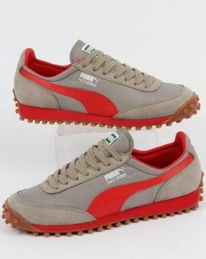 Puma Fast Rider OG Trainers Grey/Cherry Tomato