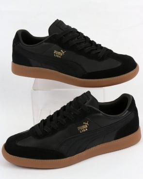 Puma Liga Leather Trainers Black