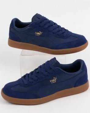 Puma Liga Leather Trainers Blue