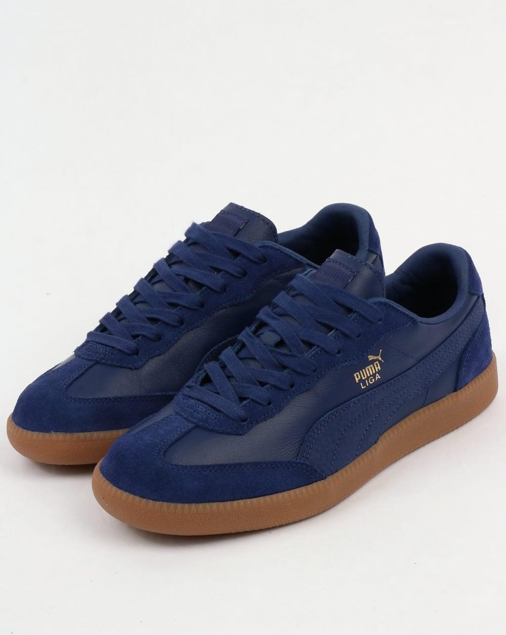 Puma Liga Leather Trainers Blue 193750124