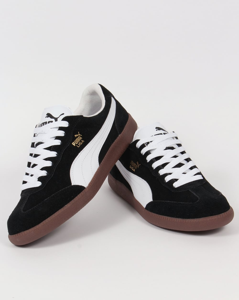 size 40 6abd8 4cf69 Puma Liga Suede Trainers Black/White