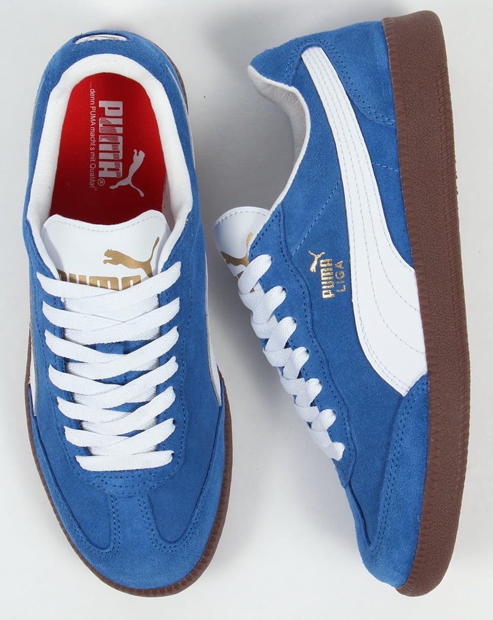 buy online 2a3f7 857e4 Puma Liga Suede Trainers Blue/White
