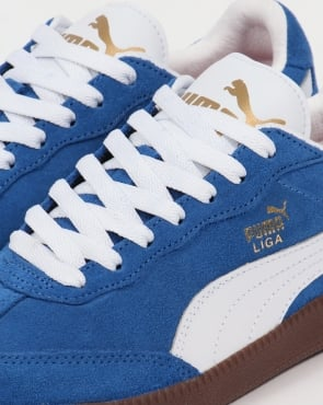 Puma Liga Suede Trainers Blue/White