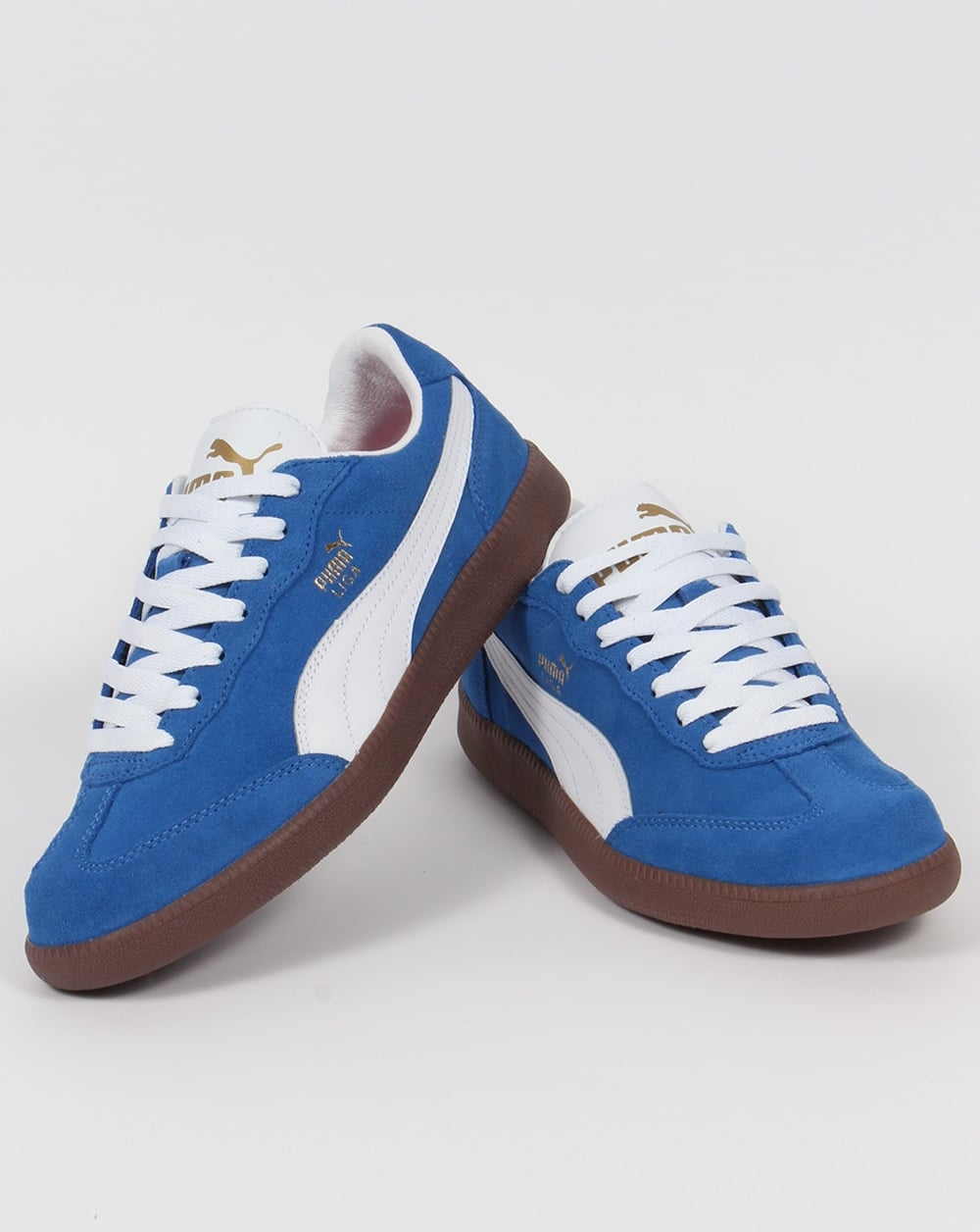 buy online fc21c 35a99 Puma Liga Suede Trainers Blue/White