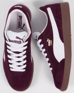 Puma Liga Suede Trainers Purple/White