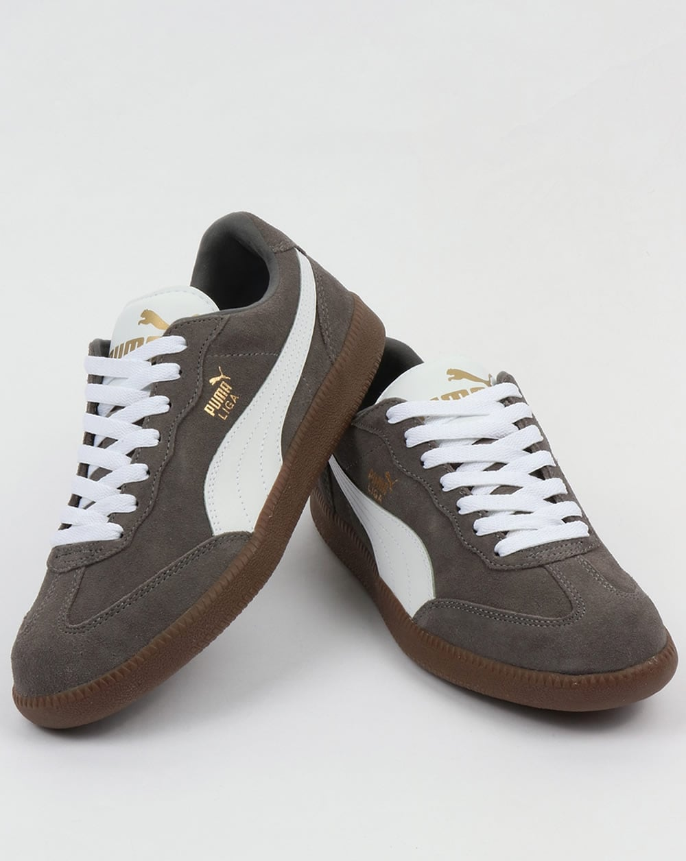 check out ffe0a 24015 Puma Liga Suede Trainers Steel Grey/White