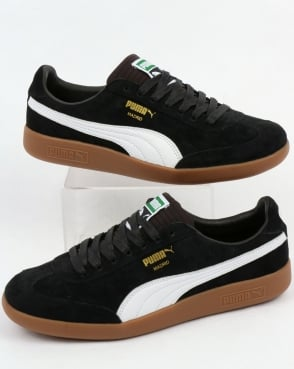 Puma Madrid Lux Trainers Black/White