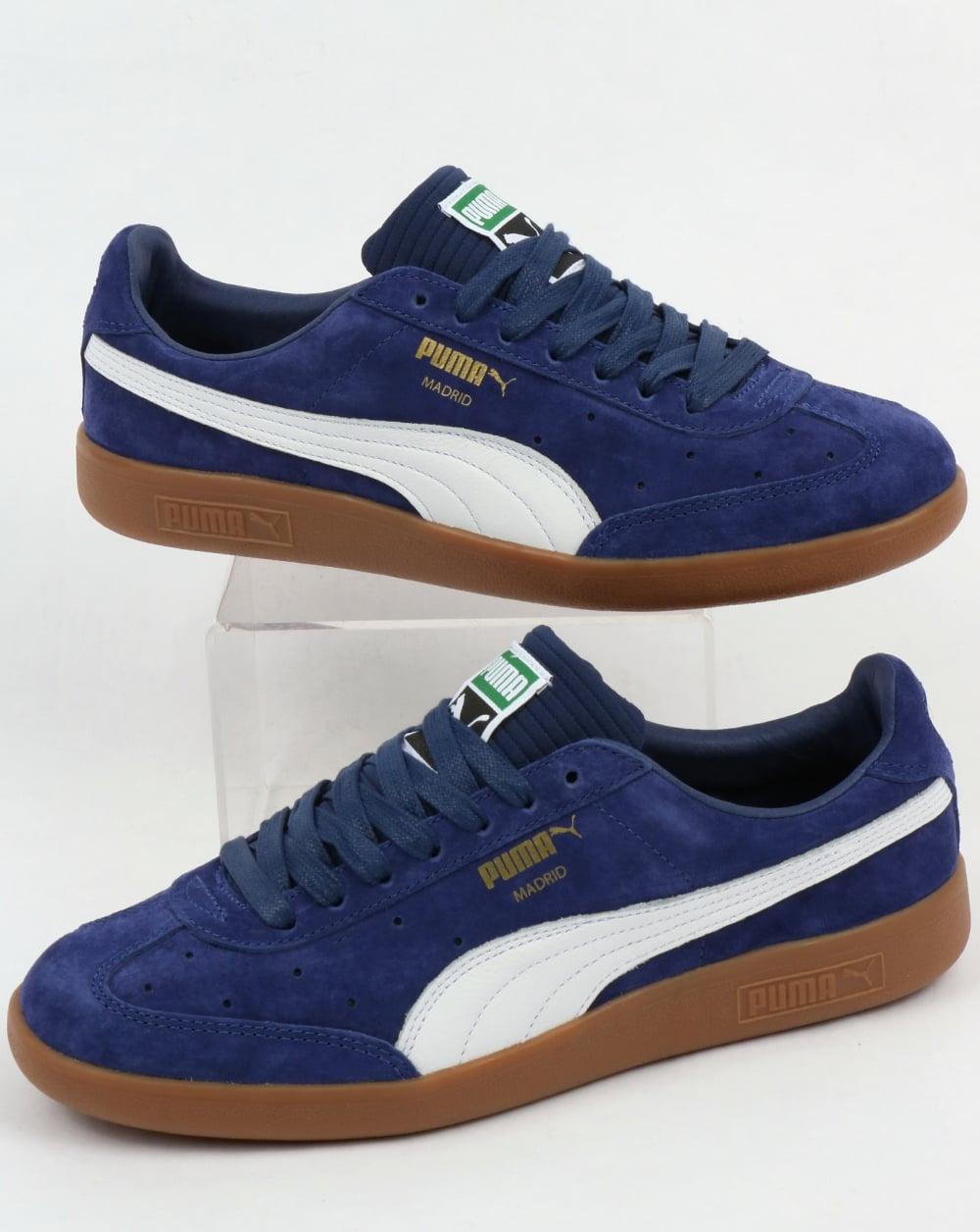 Puma Puma Madrid Lux Trainers Blue Depth White 011b57792
