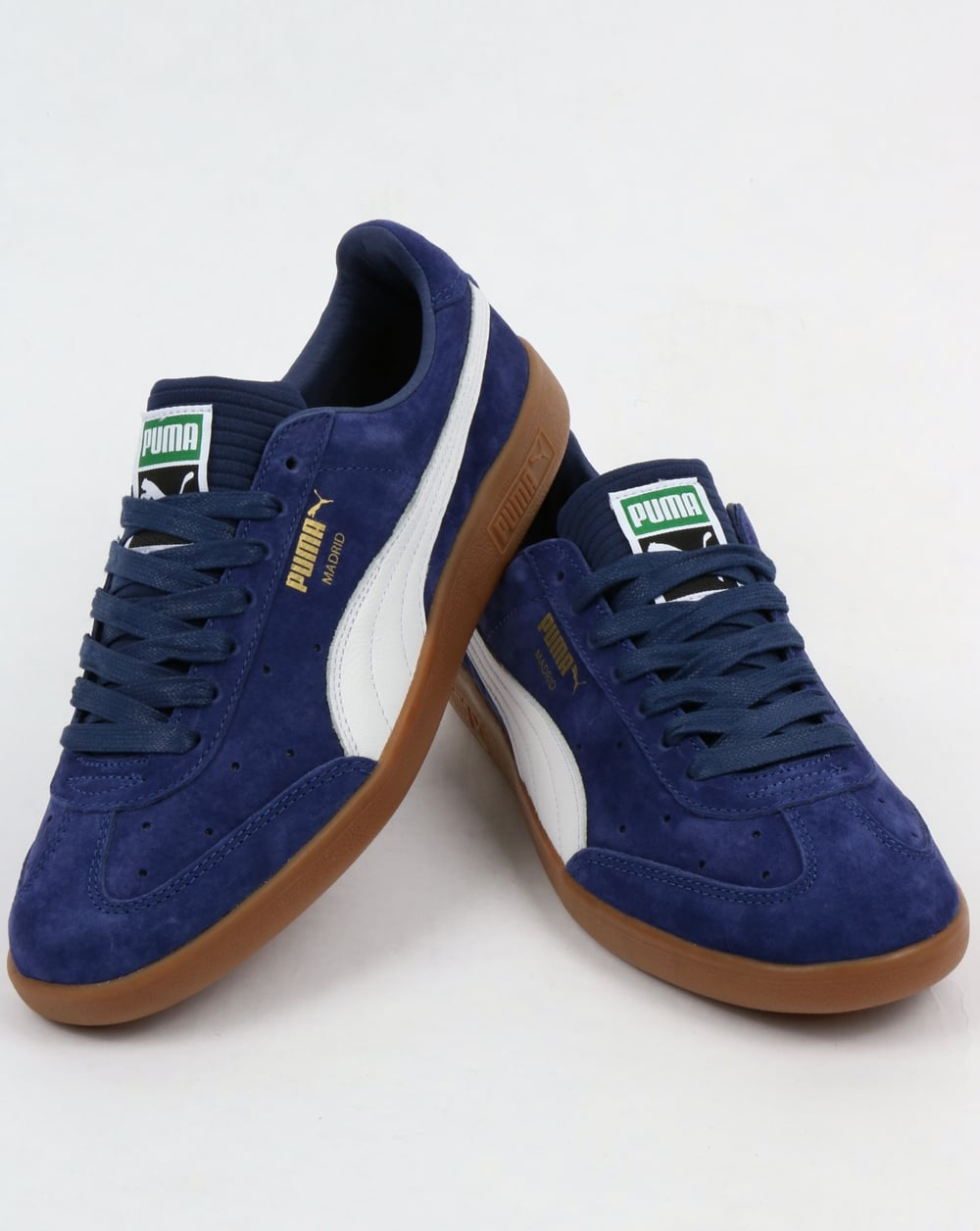 new style 827de ffdd1 Puma Madrid Lux Trainers Blue Depth/White