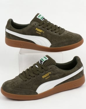 Puma Madrid Lux Trainers Olive Night/White