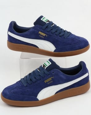Puma Madrid Suede/nbk Trainers Blue Depths/white