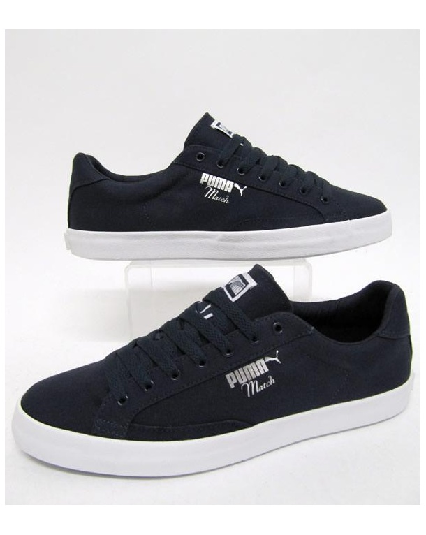 Puma Match Vulc Canvas Trainers Navy/white