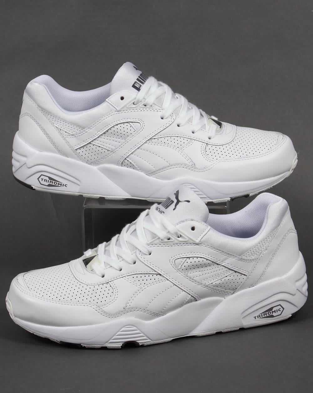 puma r698 leather white