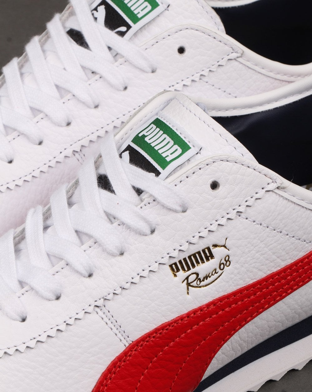 Puma Roma 68 Vintage Trainers White/Red