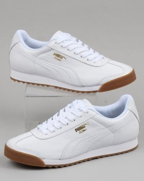 d9e0adc4886 Puma Roma Classic Gum Trainer White/Gold leather