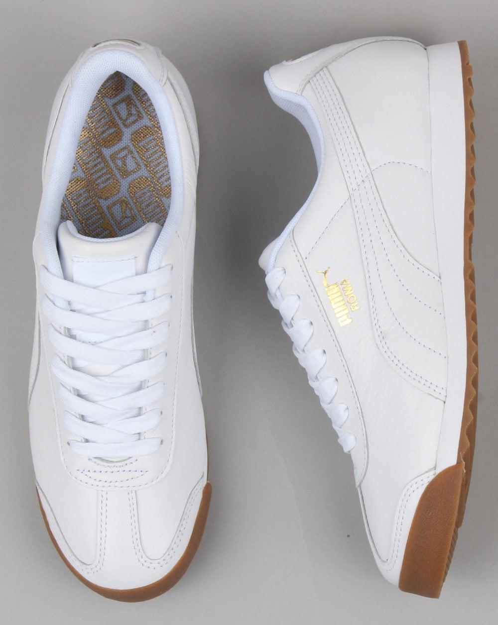 2d652dd5b Puma Roma Classic Gum Trainer White, leather | 80s casual classics