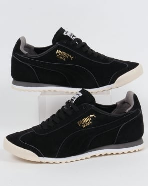 Puma Roma OG Leather Trainers Black/Grey