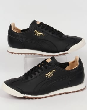 Puma Roma OG Leather Trainers in Black