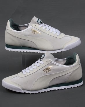 Puma Roma OG Leather Trainers White/Green