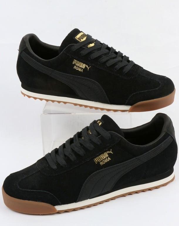 Black Warmth natural Trainers suede White Puma Roma Retro shoes 0WwfqaaE