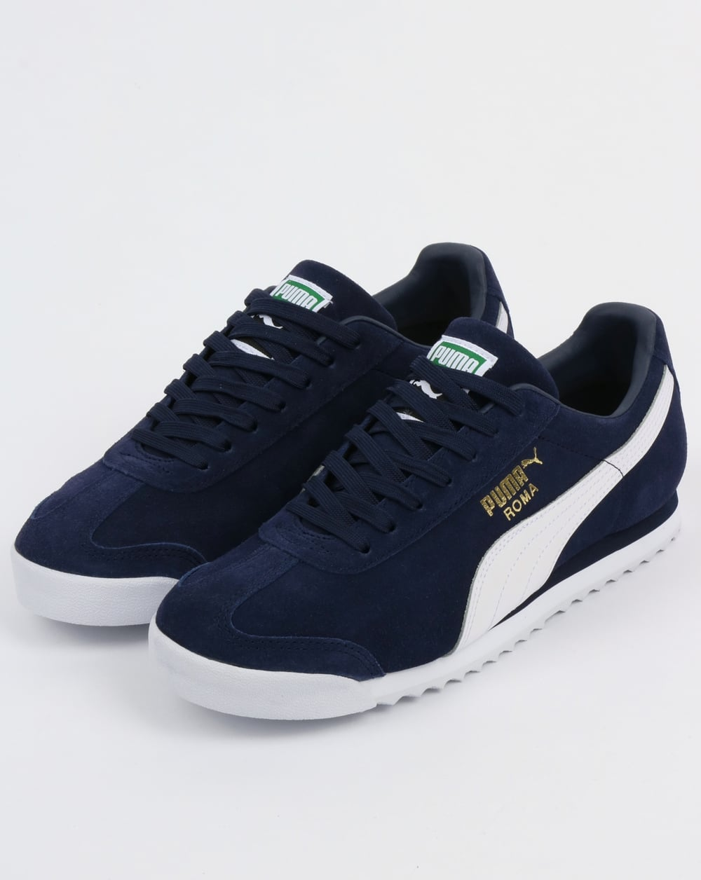 huge selection of 4ae10 8f243 Puma Roma Suede Trainers Peacoat/White