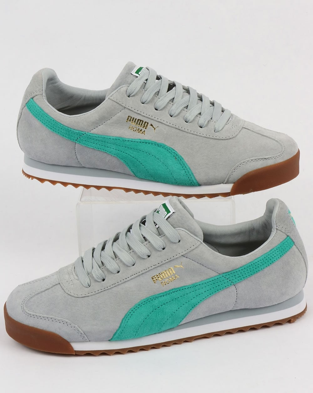 buy online bdb2b c8ce5 Puma Roma Trainers Blue/Green/White