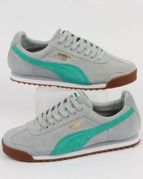 Puma Roma Trainers Blue/Green/White