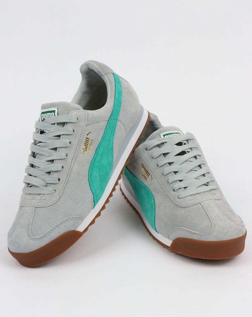 8830df3b5e5db Puma Roma Trainers Blue/Green/White