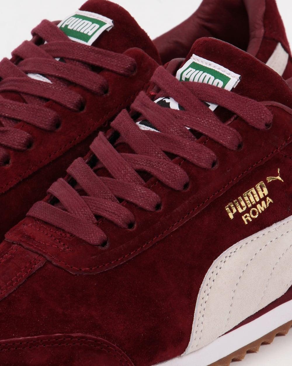Puma Roma Trainers Burgundy/White,shoes