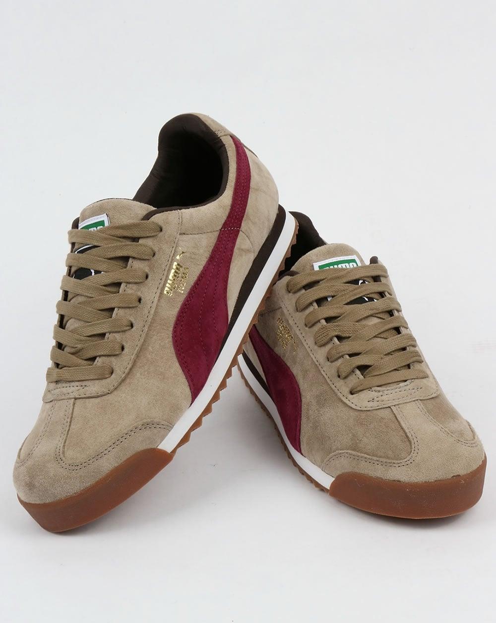Chinchilla For Sale >> Puma Roma Trainers Chinchilla Brown/Burgundy,shoes ...