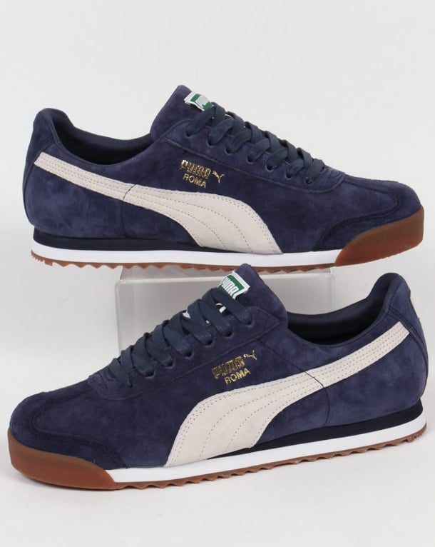 Puma Roma Trainers Navy/White