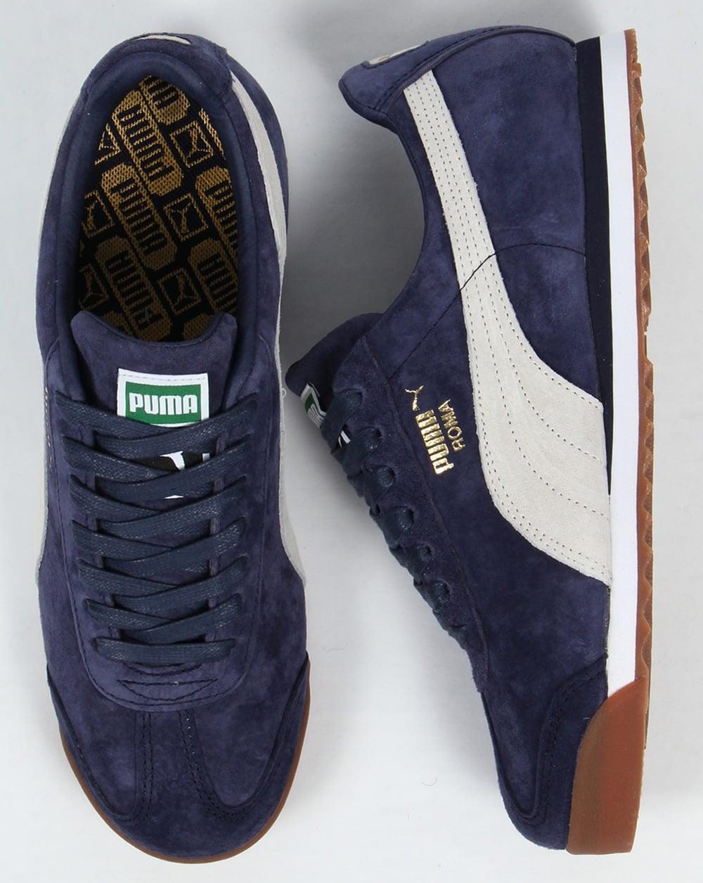 Pumas Roma Suède Bleu awsxol