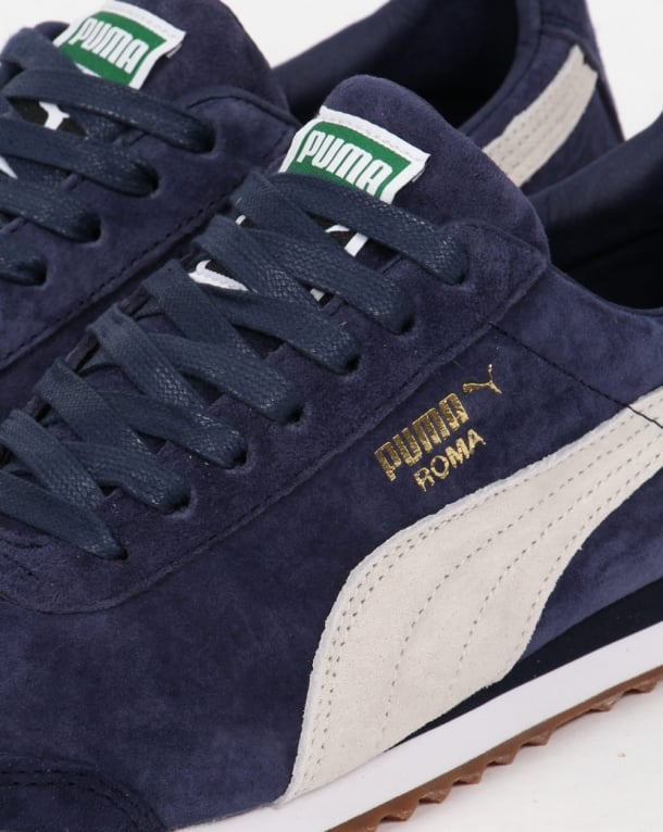 Puma Roma Trainers Navy/White,shoes
